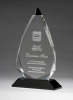 Arrow Series Crystal Award with Black Accent Executive Gift Awards