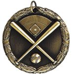Baseball with Field  Medal Awards