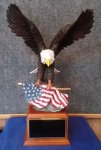 American Eagle Resin Trophy Patriotic Awards