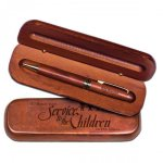 Rosewood Ballpoint Pen with Gift Case Pen & Desk Set