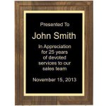 Two Step Solid Walnut Plaque Plaques
