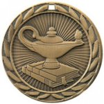 Lamp Of Know FE Iron Medal  Scholastic Trophy Awards
