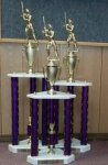 3 POST SERIES TROPHIES Sports Trophy Awards