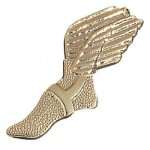 Winged Foot Chenille Pin Track Trophy Awards