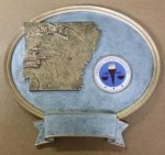 Arkansas Oval Resin with Disc Holder Trophies